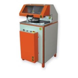 Машина за напълно автоматично рязане на ПВЦ и AL профили с долно подаване на диска (с въртяща се табла)